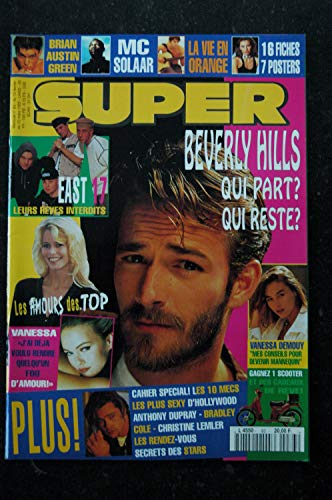 SUPER 083 FEVRIER 1995 COVER LUKE PERRY BEVERLY HILLS VANESSA PARADIS BRIAN AUSTIN GREEN MC SOLAAR + POSTERS + CP