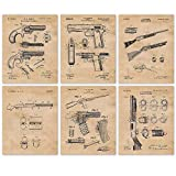 Vintage Remington Guns Patent Art Poster Prints, Set of 6 (8x10) Unframed Photos, Great Wall Art Decor Gifts Under 20 for Home, Office, Garage, Man Cave, Student, Teacher, Cowboys, NRA & Movies Fan