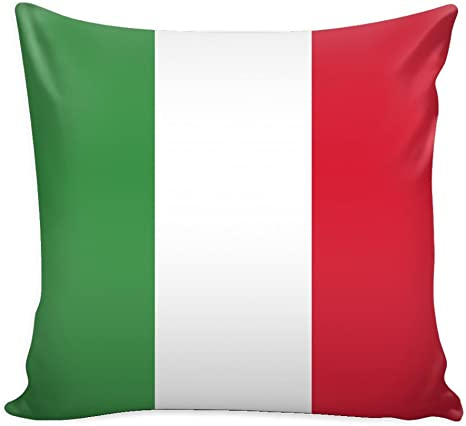 Amazon Com Italy Throw Pillow Cover With Insert Italian Flag Decorative Charming Italian Themed Designs Personalized Décor Square Cushion Is Ideal For Chair Couch Bed Sofa Living Room Bedroom Kitchen