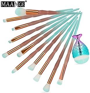 11Pcs Rose Gold Makeup Brushes Foundation Powder Make Up Brushes Eyeshadow Eyebrow Beauty Cosmetic Brush Kits