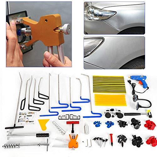 DiLiBee Auto Ausbeulset Reparatur Ausbeul Werkzeuge Set, Dellen-Reparaturset 104tlg Auto Dellen Repair Puller Kits Dellenentfernung Ausbeulwerkzeug Gleithammer