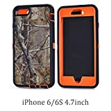Chanroy- Compatible with iPhone 6 (4.7'' Version) Heavy Duty Shockproof Dirtproof Defender Case Cover with Built-in Screen Protector (Orange Tree)