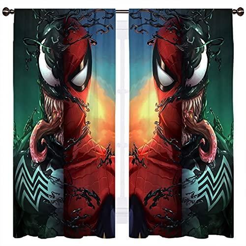 Cortina opaca con diseño de hombre araña, 140 x 115 cm