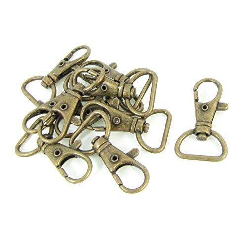 TOOGOO(R) Tono de bronce Gancho de presion de uso ornamento correa de