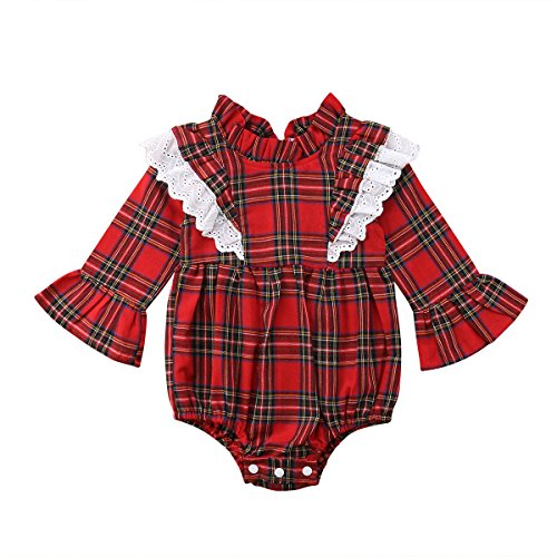 Bebé Vestido Navidad de Hermanas Mameluco de Encaje para Niñas Vestidos Familiares de Princesa para Fiesta Ropa de Recién Nacido (0-6 Años)
