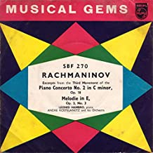 Excerpts From The Third Movement Of The Piano Concerto No. 2 In C Minor, Op. 18 / Melodie In E, Op. 3, No. 3 - Sergei Vasilyevich Rachmaninoff 7