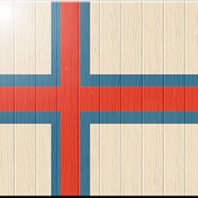 Rikki Knight 6 x 6 Niue Flag on Distressed Wood Design Ceramic Art Tile