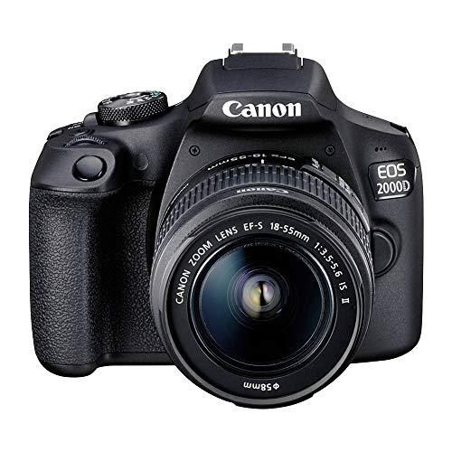 Câmera Fotográfica EOS 2000D e Lente 18-55mm Canon