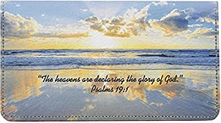 Inspirational Psalms Leather Checkbook Cover