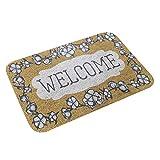 Rehe Felpudo Welcome para la Entrada de Su Hogar, Alfombra Antideslizante Exterior para Puerta Hecho de Paño de Franela 4