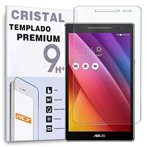 REY Protector de Pantalla para ASUS ZENPAD 8' Z380C, Cristal Vidrio Templado Premium