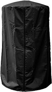 Wifehelper Cubierta para Calentador de Patio, para Trabajo Pesado Cubierta para Calentador de Patio Impermeable Resistente a los Rayos UV, Resistente a los Rayos UV, Resistente a la Intemperie(Negro)
