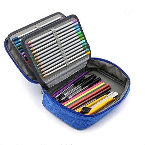 Estuche de lápices de color profesional 72 agujeros Plumier Bolsa de lápices...