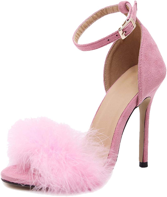 Fereshte Women's Pointy Toe Mules shoes Stiletto Kitten Heel Slide Sandals