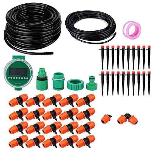 Juicemoo Bewässerungsset, 4,3 x 3,8 Zoll Bewässerungs-Timer, PVC + Polyformaldehyd mit wasserdichtem Dichtringbalkon für die Bewässerung landwirtschaftlicher Felder