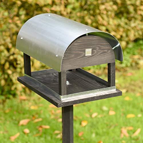VOSS.garden Vogelfutterhaus Rom im exclusiven dänischen Design - Vogelhaus Vogelstation Futterhaus Vogeläuschchen Futterhaus Vogelfutterstation
