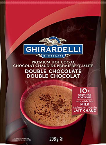 Ghirardelli Hot Cocoa Double Chocolate Pouch, 298g