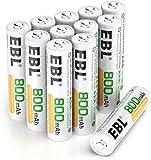 【Ecologia】- Fatto con materiali ecologici Ni-MH riduce l'inquinamento dei metalli pesanti per proteggere l'ambiente. 【Cicli di Ricarica】- Possono essere caricate fino a 1200 volte, risparmiare i soldi da comprare un gran numero di batteria usa e gett...