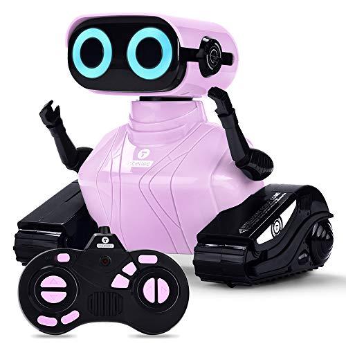 ALLCELE Mädchen Roboter Kinderspielzeug , RC Spielzeug mit Fernbedienung, Süß Aussehen, Lustiger Klang, Geschenk für Mädchen (Rosa)