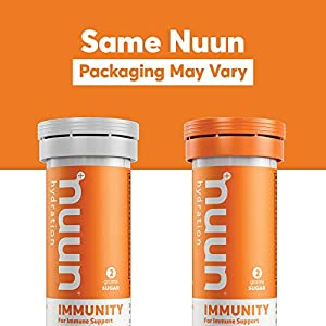 Nuun Immunity: Immune Support Hydration Supplement, Electrolytes, Antioxidants, Vitamin C, Zinc, Turmeric, Elderberry, Ginger, Echinacea - Blueberry Tangerine + Orange Citrus - 4 Tubes (40 Servings) #3
