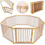 KIDUKU Baby Child Playpen XXL Foldable Incl. Door, Consisting of 8 Panel, Individually Malleable Play Pen