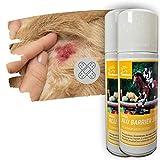 Emma®, spray argentato per cavalli, cani, animali, gatti, in alluminio, spray per ferita, spray traspirante, 2 x 200 ml