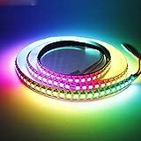 JOYLIT Tiras LED Iluminación RGB WS2812B 144 LEDs/M CC 5V Direccionable individual Tira de Píxeles LED A Todo Color SMD 5050 3.2FT/1M IP20 No impermeable Blanco PCB Con Controlador de LED de 14 teclas