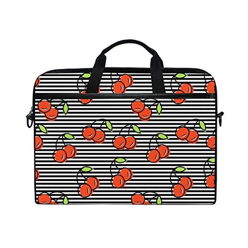 DOSHINE Laptop Bag Case Sleeve Cherry Stripe Pattern Notebook Computer Bag for 14-14.5 inch Adjustable Shoulder Strap, Back to School Gifts for Men Women Boy Girls