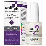 Nail Tek Foundation Xtra 4, Ridge Filling Strengthening Base Coat for Weak and...