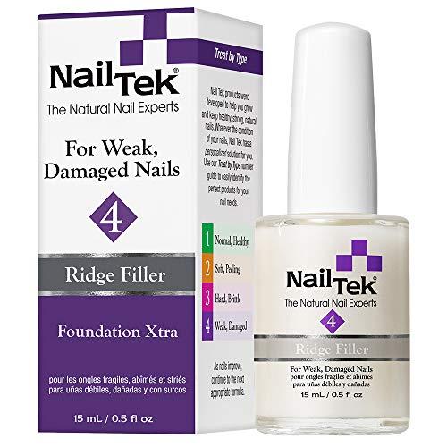 Nail Tek Ridge-Filling Strengthening Base Coats Foundation Xtra 4 For Weak, Damaged Nails