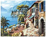 Pintura digital DIY Shore Restaurant Green Pine DIY Pintura Set para principiantes - 40,6 x 50,6 cm (sin marco) XhO9o