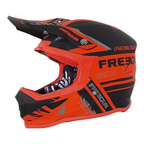 SHOT Freegun XP 4 Nerve Motocross Casco 2018 - Arancione Neon Opaco - Multicolore, S (55-56 cm)