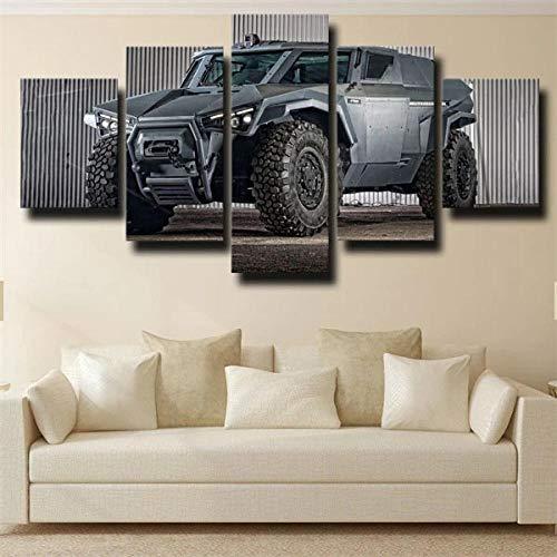BHJIO Impresiones En Lienzo 5 Piezas Fuerzas Armadas Volv SCARABE Vehículo Armado Poster HD En Lienzo Modular Modern Interior Decorations Wall Art Tamaño Regalo 150 * 80Cm.