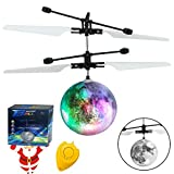 AMENON Easter RC Flying Ball Kids Toys Light Remote Control Rotating Charging Hand-Controlled Drone Helicopter Toy Light Up Mini Ball Easter Toy for Boys Girl Indoor Outdoor Holiday
