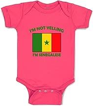 Custom Boy & Girl Baby Bodysuit I'm Not Yelling I Am Senegalese Senegal Clothes