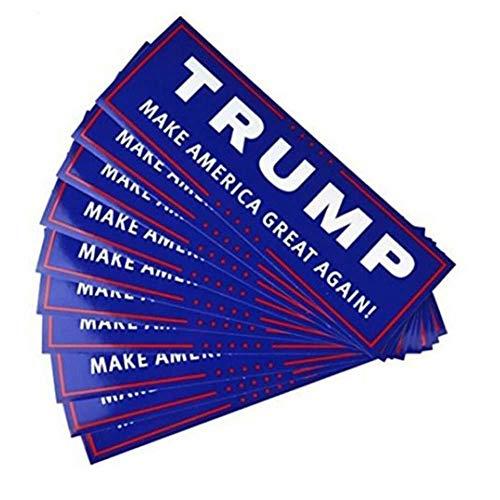Case Cover 10pcs Wahl-autoaufkleber Trump 2020 Aufkleber Reflektierende Auto-LKW-autoaufkleber President Unterstützung Aufkleber