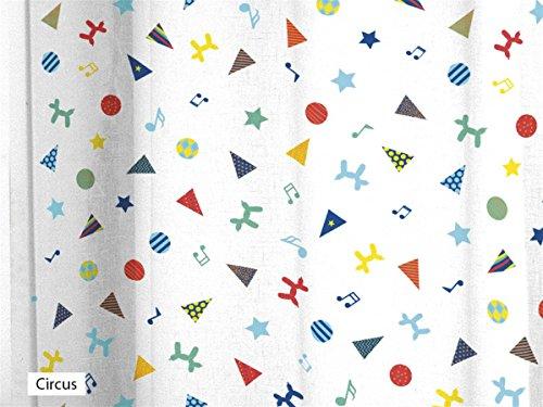 CAÑETE - Visillo con ollaos Circus 140x270 cm