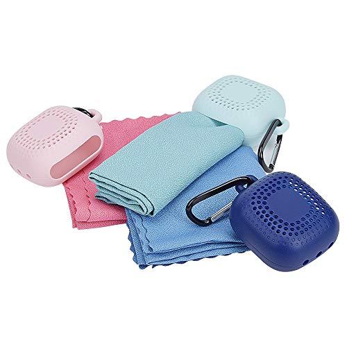 YSBER 3-Pack Kühltuch, eiskaltes Schweißtuch, Quick Dry Sports Coole 40 * 40cm-Handtücher für kühlen Halt mit Silikon-Aufbewahrungstasche