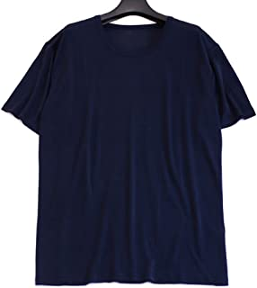 Mens 100% Silk Knitted T-Shirts Shirts Casual-Tee Top S M L