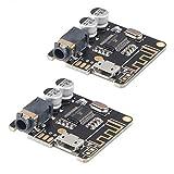 MakerHawk 2pcs Bluetooth Audio Receiver Board BT 5.0 Stereo Audio Amplifier 3.7-5V Car Speaker Amplifier for DIY