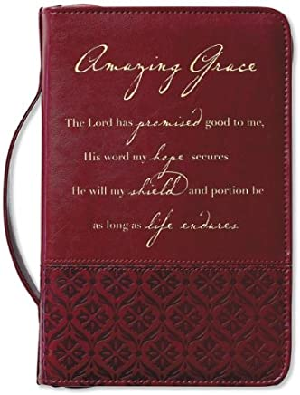 Amazing Grace Rich Red Book & Bible Cover, Large
