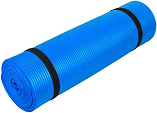 Pure Color Anti-skid Yoga Mat Nonslip Fitness Pad 10mm Thick - Blue