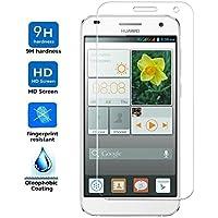 REY Protector de Pantalla para Huawei Ascend G7 Cristal Vidrio Templado Premium
