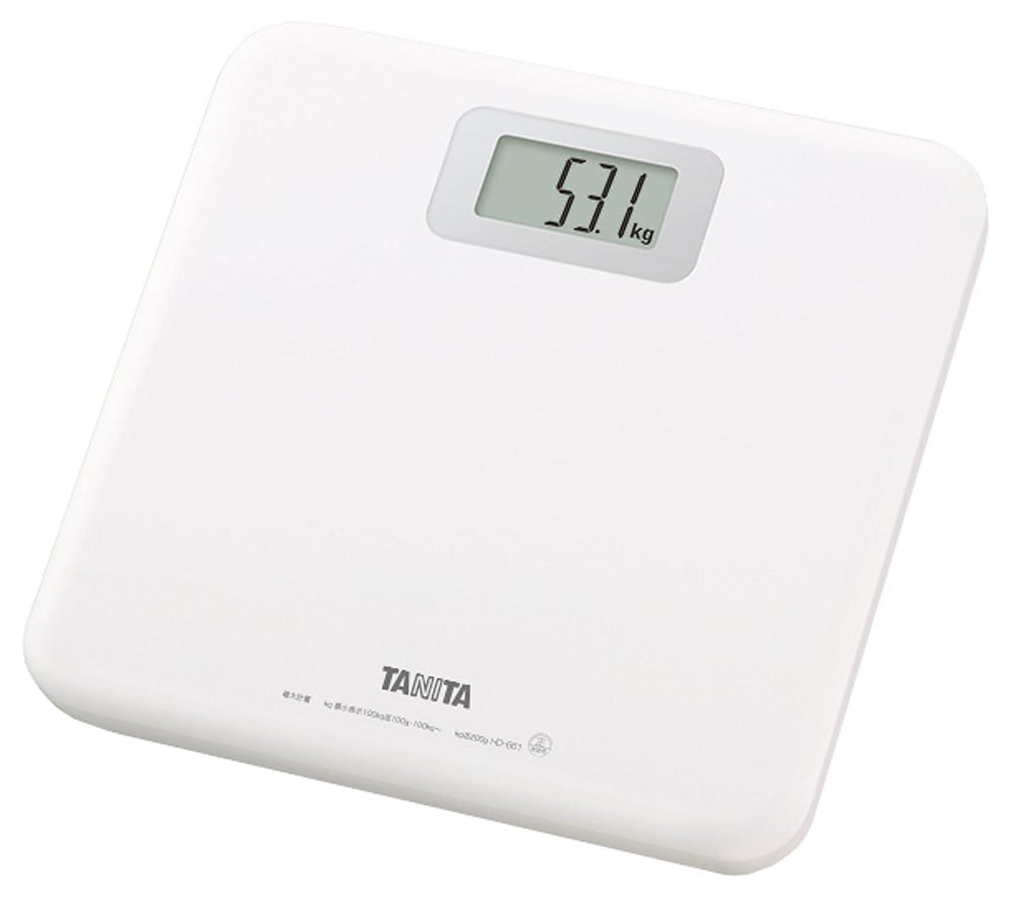 次へスポンジ送ったタニタ 体重計 ホワイト HD-661-WH