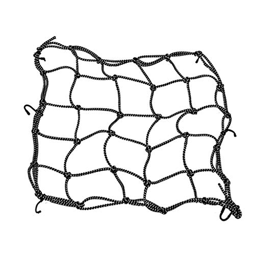 PT-KMKMING 40 * 40cm Reflective Motorrad-Sturzhelm Net, Fracht Fix Net für Motorräder, Helm Sundries Net mit 6 Metallhaken für Storage-Tragetasche Fracht Fix Net