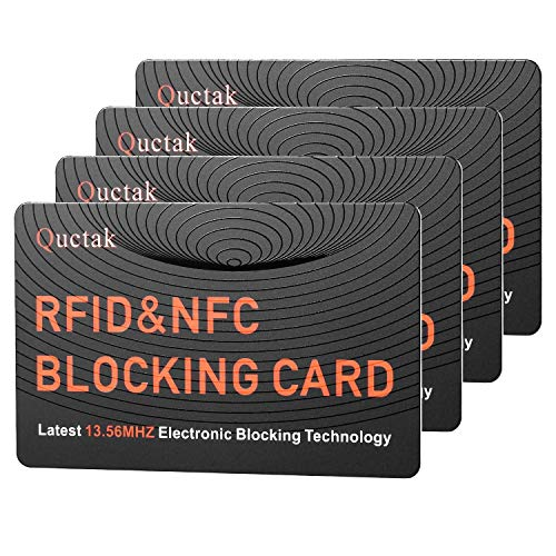 RFID Blocking Card, NFC Contactless Cards Protection Entire Wallet & Purse Shield, No More Need for Single Sleeves, Credit Card Holder, Wallets or Passport (Orange)