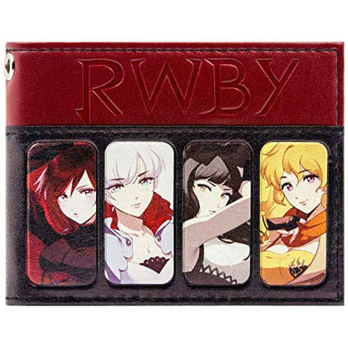 Rooster Teeth RWBY Anime Characters Black ID & Card Bi-Fold Wallet