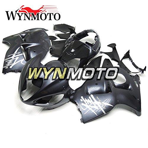 WYNMOTO ABS Plastic Injection Dark Flat Grey New Motorcycle Fairing Kit For Suzuki GSXR1300 Hayabusa 1997-2007 2004 2005 2006 2007 Sportbike Panels