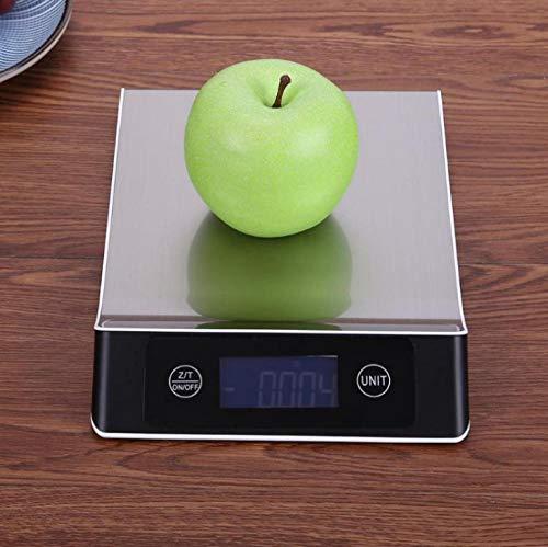 Báscula Digital de Cocina,Balanza de Alimentos Multifuncional, Escala de Peso de Alta Precisión con Función de Tara, Pantalla LCD Báscula de Alimentos Electrónica -15 kg / 1 g