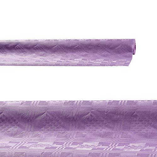 Cepewa Damasttischtuch Summer lila 8 m x 100 cm Papiertischdecke Tischdecke hochwertig (1 x Tischedecke lila)